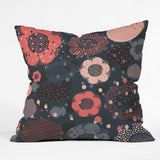 Rachael Taylor Geo Flowers Outdoor Throw Pillow