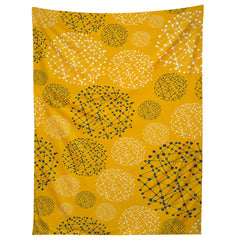 Rachael Taylor Lattice Trail Mustard and Storm Tapestry