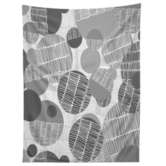 Rachael Taylor Textured Geo Gray 1 Tapestry
