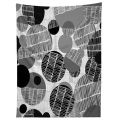 Rachael Taylor Textured Geo Gray And Black Tapestry