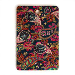Rachelle Roberts Boho Paisley Navy Cutting Board Rectangle