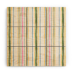 Rachelle Roberts Ticker Stripe Wood Wall Mural