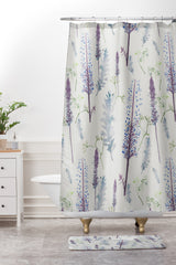 Rachelle Roberts Winter Pinecone Shower Curtain And Mat