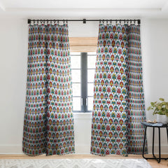Raven Jumpo Abstract Ornaments Sheer Window Curtain