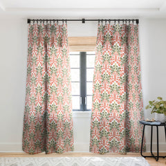 Raven Jumpo Coral Damask Sheer Window Curtain