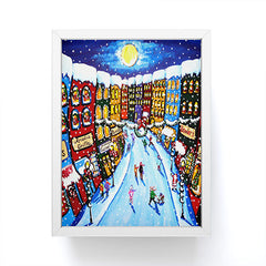 Renie Britenbucher Christmas Shoppers Framed Mini Art Print