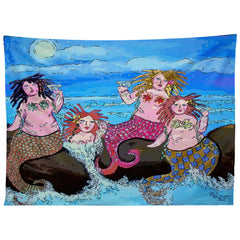 Renie Britenbucher Four Martini Mermaids Tapestry