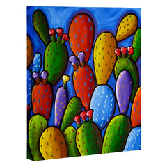 Renie Britenbucher Prickly Pear Cactus Art Canvas