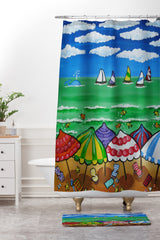 Renie Britenbucher Whimsical Beach 1 Shower Curtain And Mat