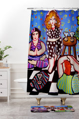 Renie Britenbucher Yoga Divas Shower Curtain And Mat