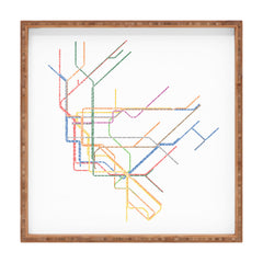 Restudio Designs NYC Subway Map Square Tray