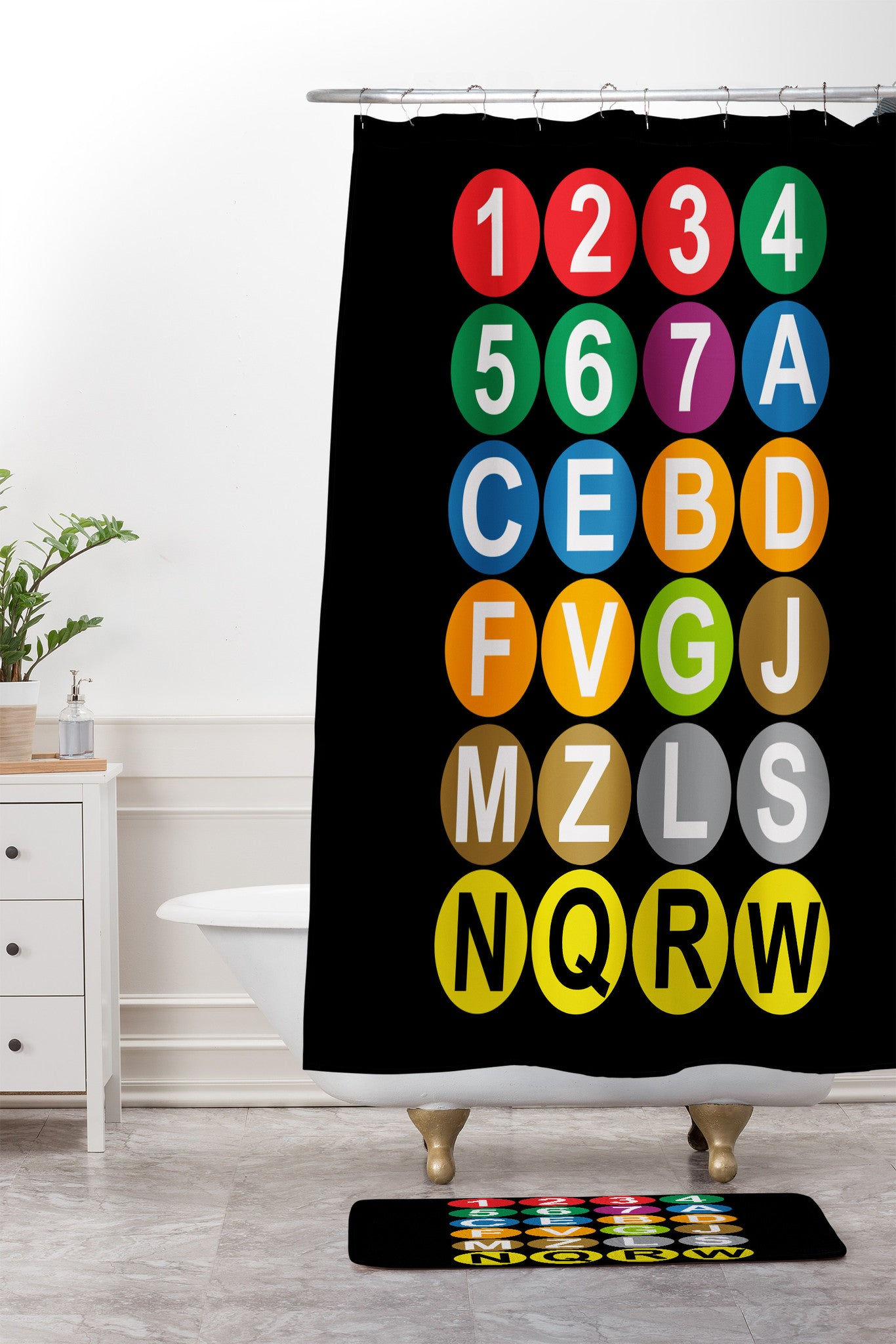 Restudio Designs Nyc Subway Shower Curtain And Mat