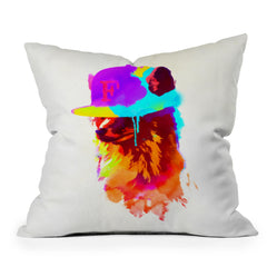 Robert Farkas Foxeys Favorite Cap Throw Pillow