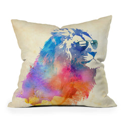 Robert Farkas Sunny Leo Throw Pillow