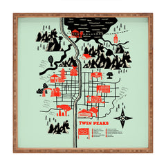 Robert Farkas Twin Peaks Map Square Tray