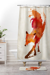Robert Farkas Vulpes Shower Curtain And Mat