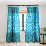 Rosie Brown Blue Grotto Sheer Window Curtain