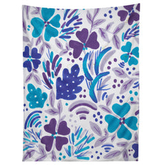 Rosie Brown Blue Spring Floral Tapestry
