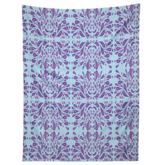 Rosie Brown Purple Blooms Tapestry