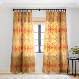 Rosie Brown Shower of Color Sheer Window Curtain