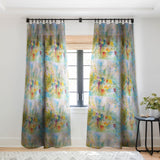 Rosie Brown Spring Burst Sheer Window Curtain