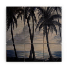 Rosie Brown Sunset Palms Wood Wall Mural