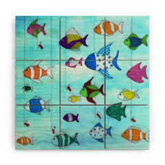 Rosie Brown Tropical Fishing Wood Wall Mural