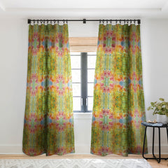 Rosie Brown Wallflower Sheer Window Curtain