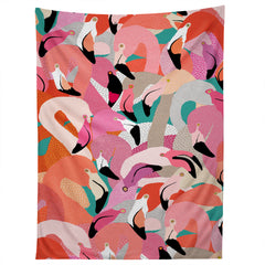 Ruby Door Flamingo Flock Tapestry