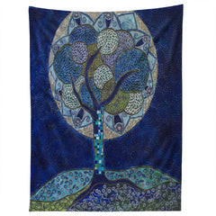 Ruby Door Moon In Bloom Tapestry