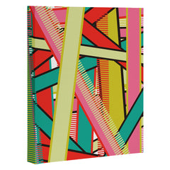 Sam Osborne Twisted Stripes Art Canvas