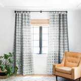 Schatzi Brown Aviana Starburst White Blackout Window Curtain