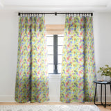 Schatzi Brown Gillian Floral Lime Sheer Window Curtain