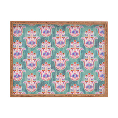 Schatzi Brown Hamsa Mint Rectangular Tray