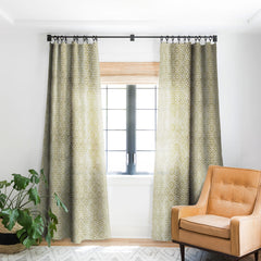 Schatzi Brown Hara Tiles Golden Blackout Window Curtain