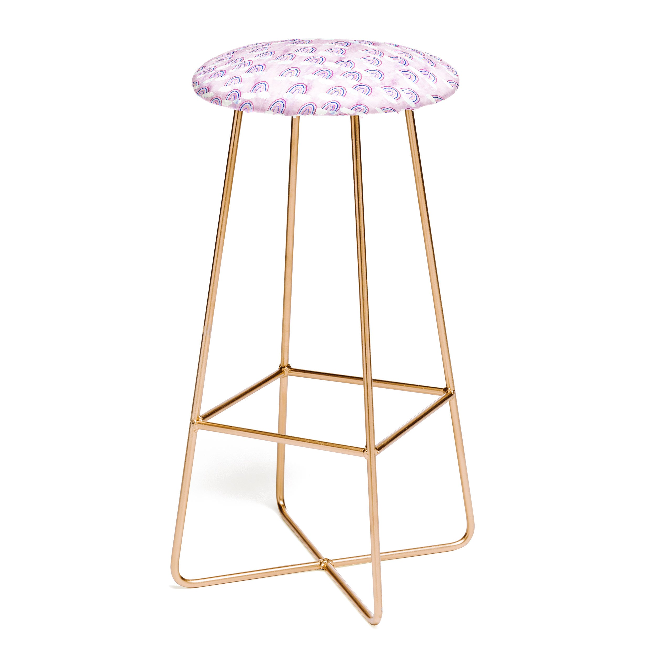 Schatzi Brown Just Rainbows Pink Bar Stool