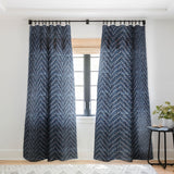 Schatzi Brown Justina Chevron Ink Sheer Window Curtain
