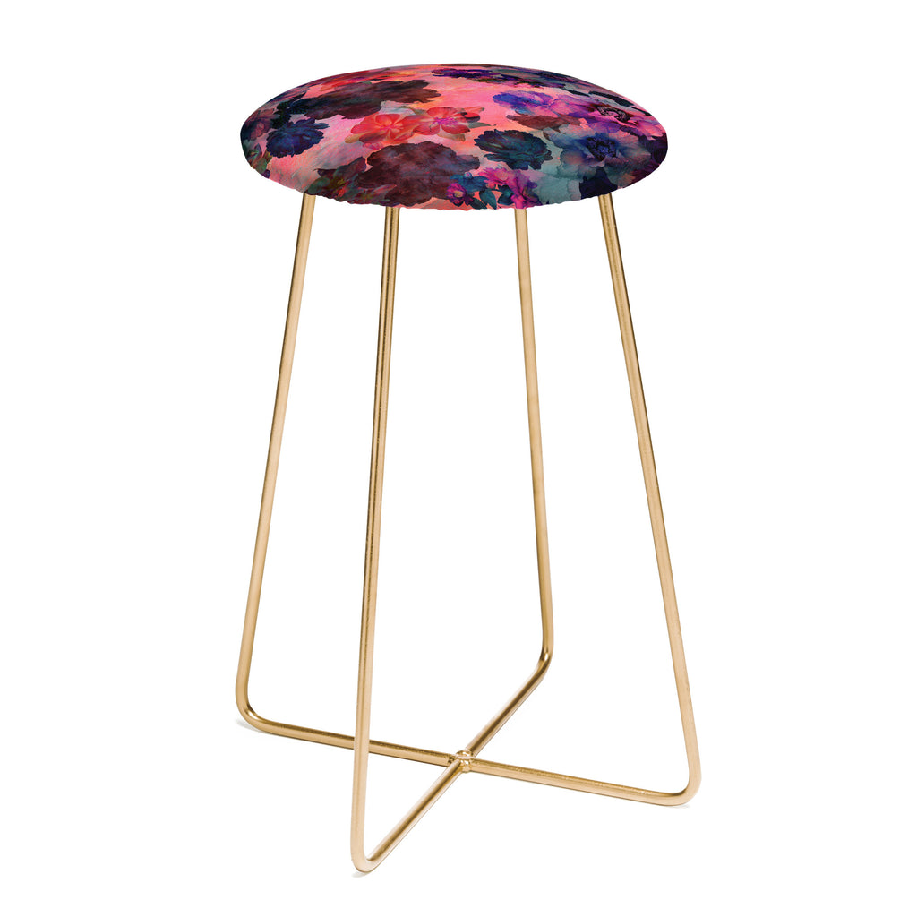 Schatzi Brown Le Fleur Pink Counter Stool DENY Designs  : schatzi brown le fleur pink counter stool white background SQUARE aston gold1024x1024 from www.denydesigns.com size 1024 x 1024 jpeg 55kB