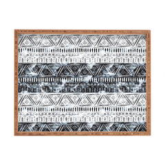 Schatzi Brown Mendhi Black and White Rectangular Tray