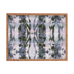 Schatzi Brown Quinn Tie Dye Gray Rectangular Tray