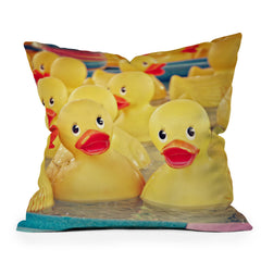 Shannon Clark Rubber Duckies Throw Pillow