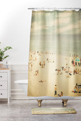 Shannon Clark Vintage Beach Shower Curtain And Mat
