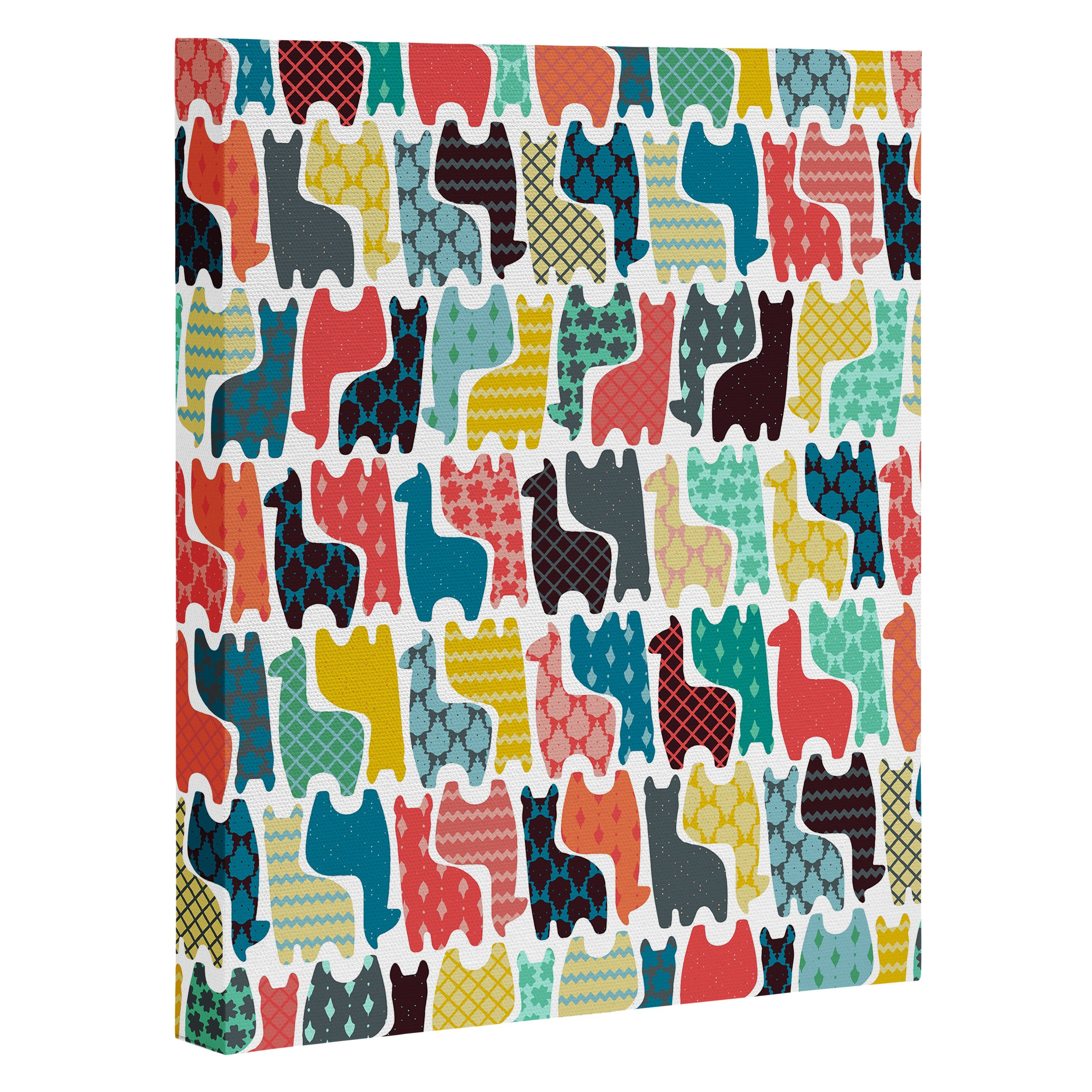 Sharon Turner baby llamas Art Canvas