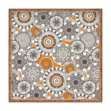 Sharon Turner heart mandala turmeric Square Tray