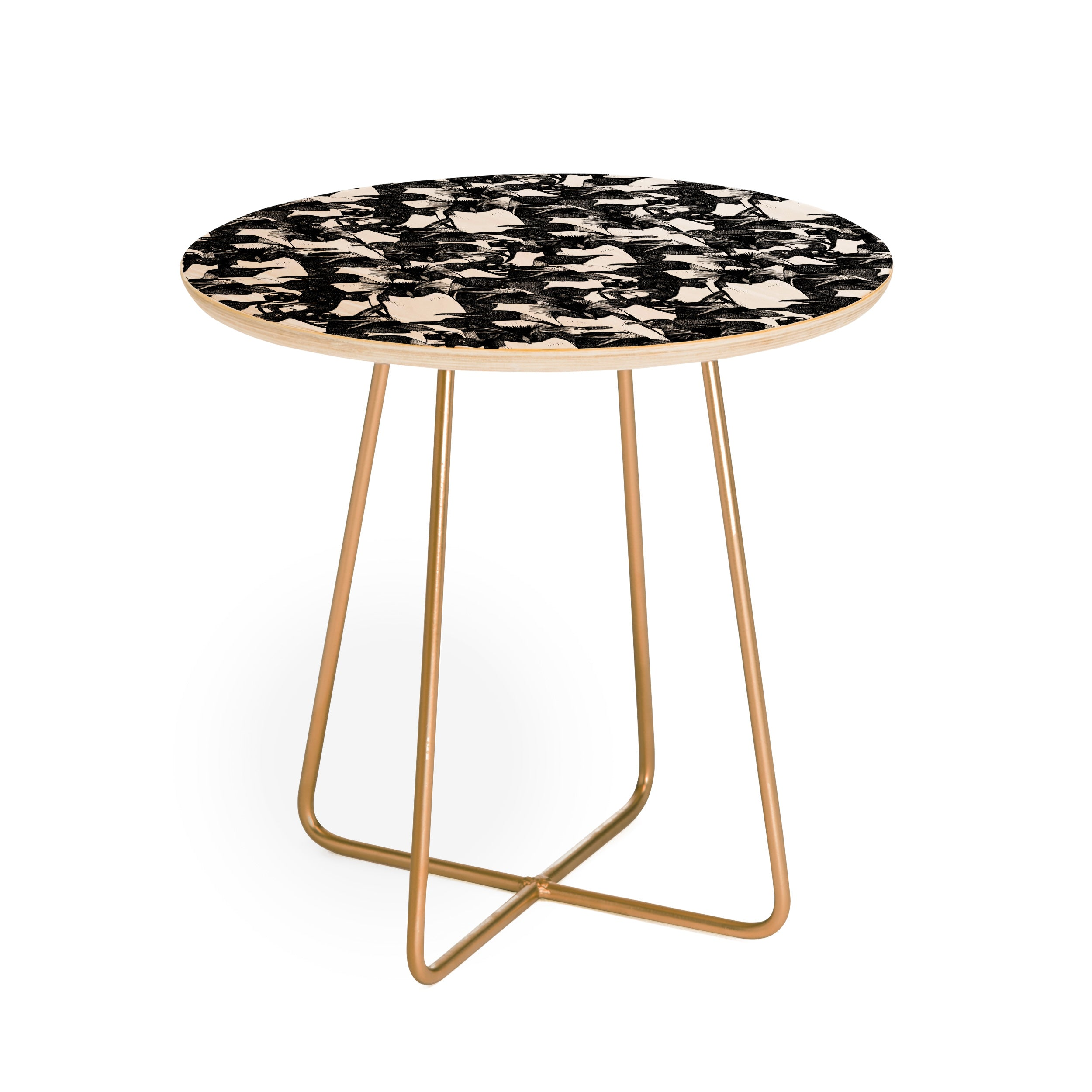 Sharon Turner just penguins Round Side Table