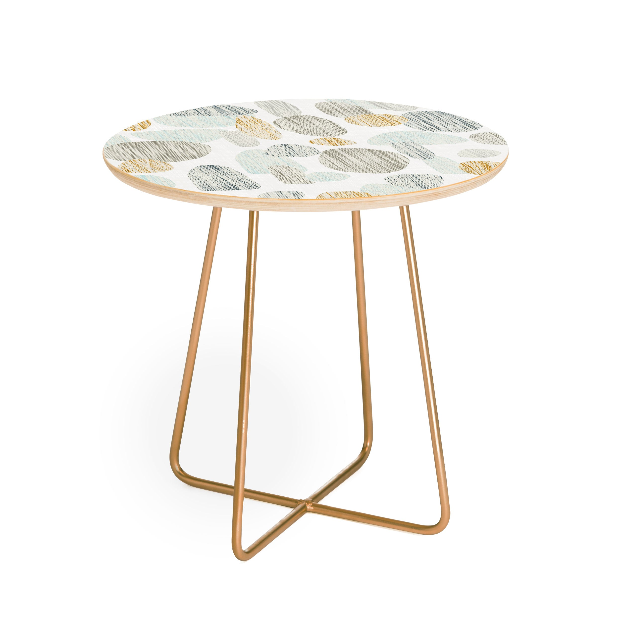 Sharon Turner pebbles copper Round Side Table
