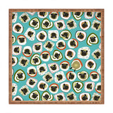 Sharon Turner sheep sushi blue Square Tray