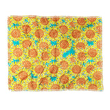 Sharon Turner Sunflower Field Throw Blanket