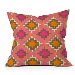 Sharon Turner Tangerine Kilim Throw Pillow