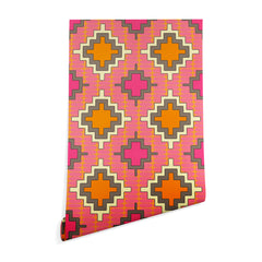 Sharon Turner Tangerine Kilim Wallpaper